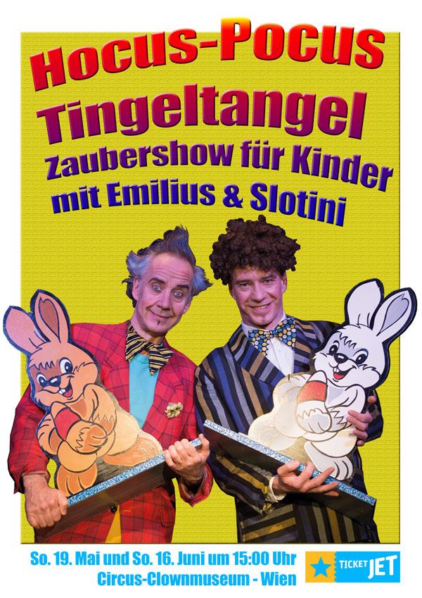 Hocus-Pocus Tingeltangel Zaubershow für Kinder