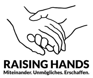 Logo Raising Hands - Verein zur Förderung von partizipativer Kunst im öffentlichen Raum