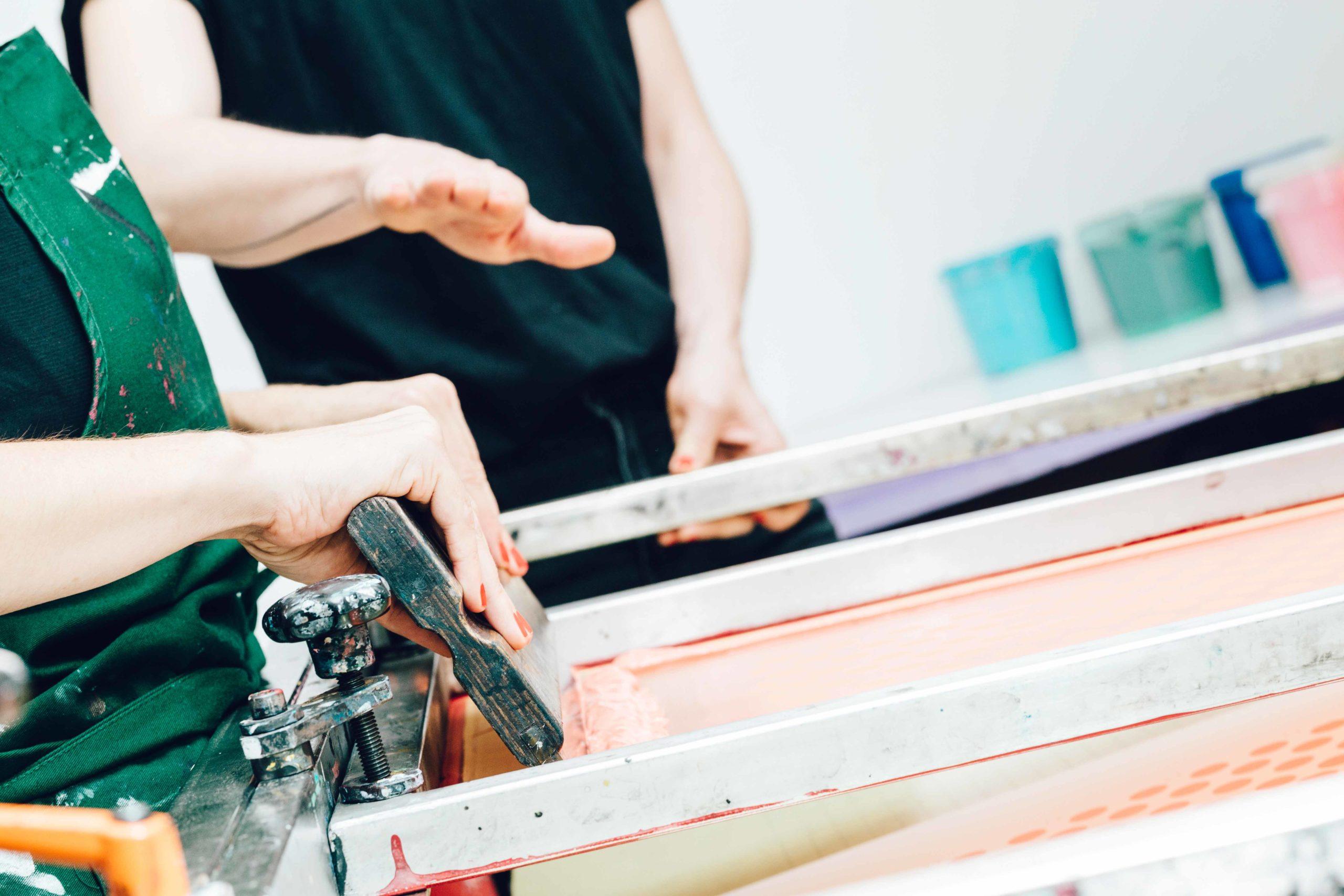 Siebdruckworkshop für Anfänger*Innen
